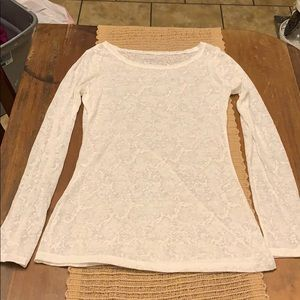 Express White Sheer Top Size Small